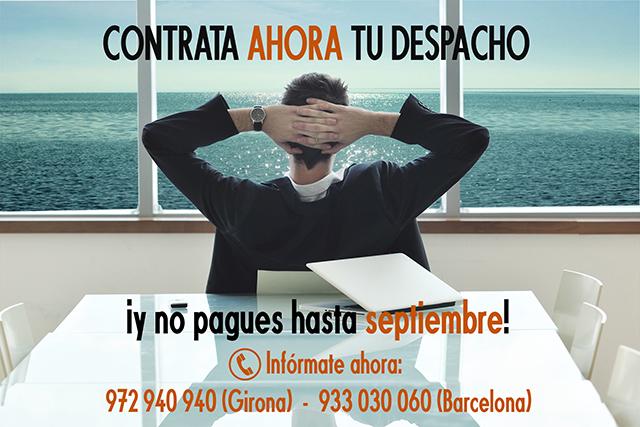 ¡Contrata ahora tu despacho y no pagues hasta septiembre!