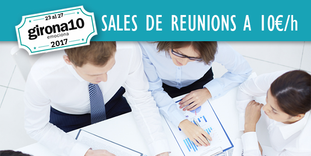Promoción Girona10: Salas de reuniones a 10€/hora