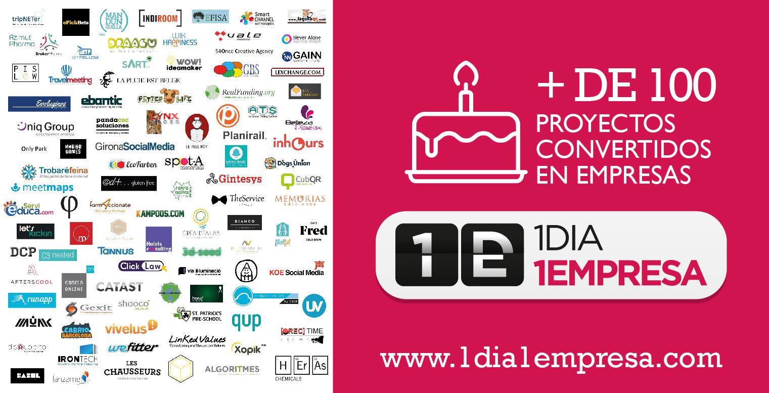 Más de 100 empresas catalanas constituidas con 1Dia1Empresa
