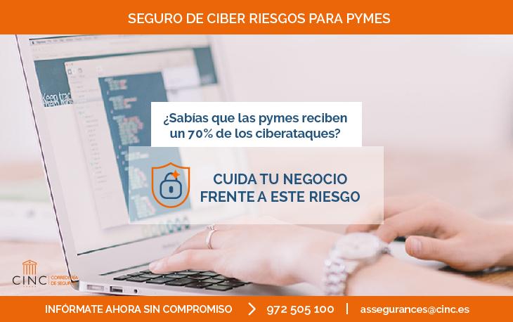 Seguro de Ciber riesgos para pymes: tranquilidad desde el primer clic