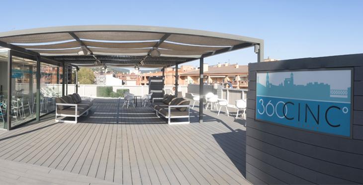 Terrassa 360CINC: un espai únic amb vistes a la ciutat de Girona